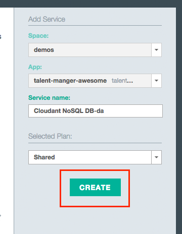 cloudantcreate Building a Java EE app on IBM Bluemix Using Watson and Cloudant