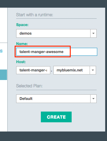 new app Building a Java EE app on IBM Bluemix Using Watson and Cloudant