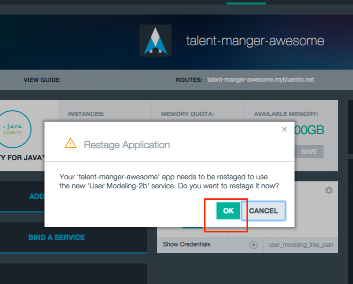 restage Building a Java EE app on IBM Bluemix Using Watson and Cloudant